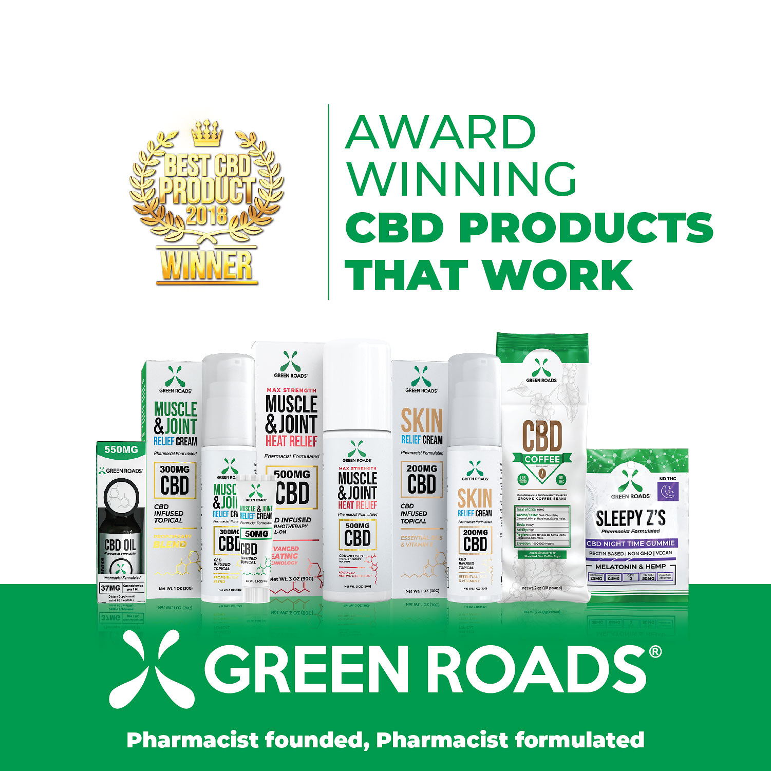 Green Roads is the #1 Privately Held CBD Company in the USA. Come see us to try Green Roads CBD today and find out what all the fuss is about! #GreenRoads #EveryDayBetter #CBD